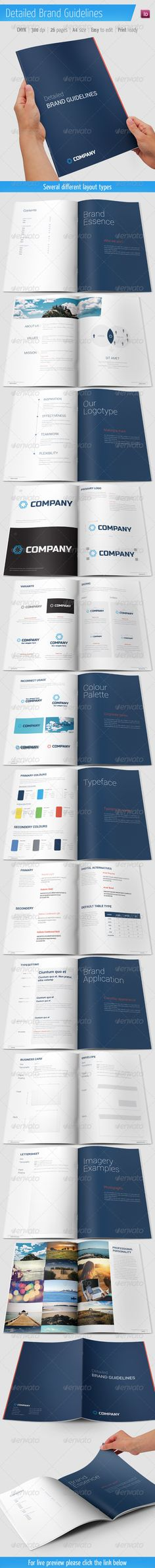 Detailed Brand Guidelines  #booklet #brand guideline #branding • Available here → http://graphicriver.net/item/detailed-brand-guidelines/5898210?s_rank=359&ref=pxcr