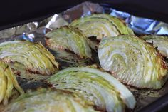 Oven Roasted Cabbage with lemon, butter and olive oil ~ the easiest and healthiest side dish you will ever make!