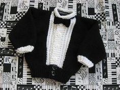 Ravelry: knit Baby Tuxedo pattern by Judy Lamb
