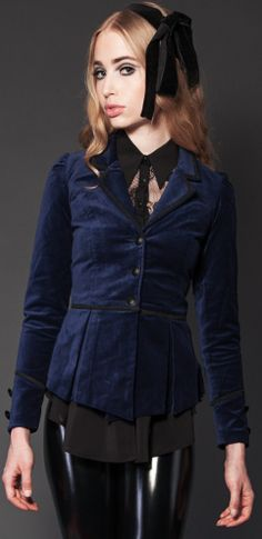 Womens - Outerwear - Velveteen Jacket - Closeout Sale