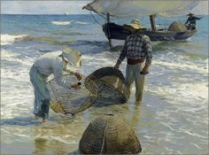 The Fishermen Valencia Painting By Joaquin Sorolla - Reproduction Gallery Painting Edges, Painting & Drawing, Valencia, Image Bleu, Kunst Online, Spanish Painters, Canvas Art, Oil On Canvas, Oil Painting Reproductions