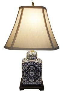 desk this low profile table lamp has a modern arabesque design. Black Bedroom Furniture Sets. Home Design Ideas