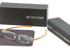 Tag Heuer Eyeglasses Frame Reflex 3 3941 Titanium Brown France Made 56-16-140 #TAGHeuer