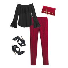 """Thanks to our red jacquard pants you'll be date night pretty from head-to-toe. Make the most of the slimming fit and flattering ankle length with a soft red blouse and red chunky heels. Jacquard slim ankle pants in luscious red Sits 2 1/2"""" below waist Front seam pockets; back welt pockets Hook-and-eye front with zip fly Back welt pockets Slim fit; hits above the ankle Approx. inseams: 25"""" short, 27 1/2"""" regular, 29 1/2"""" long Cotton/polyester/spandex. Machine wash cold. Imported We can't get…"""