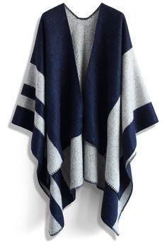 Winsome Blue Blanket Cape - New Arrivals - Retro, Indie and Unique Fashion