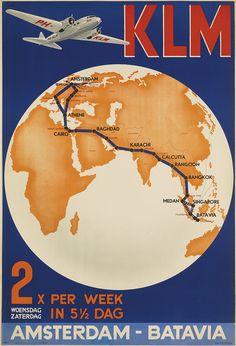 KLM / AMSTERDAM - BATAVIA. 1935.