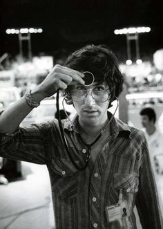 Steven Spielberg with a stethoscope on the set of Close Encounters of the Third Kind | Rare and beautiful celebrity photos