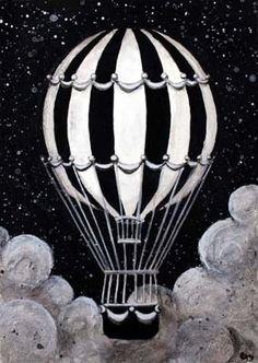 """Acrylic painting for """"The Chariot"""" tarot card by Erin Morgenstern, author of The Night Circus Dark Circus, Circus Art, Circus Theme, The Chariot Tarot, Mary Cassatt, Night Circus, Vintage Circus, Hot Air Balloon, Limited Edition Prints"""