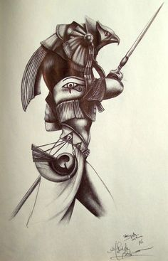 Anubis Stargate by AdorindiL on DeviantArt Anubis Tattoo, Horus Tattoo, Ink Pen Drawings, Tattoo Sketches, Tattoo Drawings, Kunst Tattoos, 3d Tattoos, Calf Tattoos, Wolf Tattoo Design