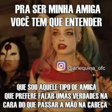Resultado de imagem para frases arlequina Disney Memes, Bffs, Harley Quinn, Haha, Joker, Funny Memes, Humor, Feelings, My Love