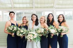 My beautiful bridesmaids & dream bouquets by Catkin & Pussywillow. Photography Stephanie Swann