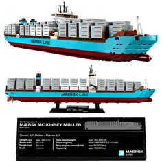 LEGO Maersk Line Triple-E Container Vessel