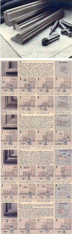 Making Picture Frame Molding - Furniture Molding Construction Techniques   WoodArchivist.com