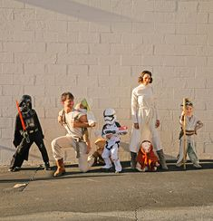 I swore last year was it. I just said let the kids pick their costumes and keep it easy this year. After our boys' suggested Star Wars, Star Wars Halloween Costumes, Halloween Diy, Happy Halloween, Halloween Decorations, Family Costumes, Diy Costumes, Costume Ideas, Star Wars Party, Kid Picks