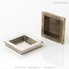 The 'Cube' was designed in response to a gap in the market for architects, who, at the time, couldn't find contemporary ironmongery that was both beautiful and practical. Sliding Door Handles, Sliding Doors, Metal Finishes, Solid Brass, Antique Brass, Contemporary Design, Beautiful Homes, Wax, Hardware