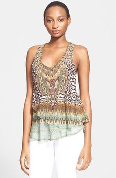 Camilla Crystal Embellished Silk Tank available at #Nordstrom