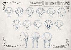 el gato azul prusia: Bocetos para el estudio de la expresión facial.
