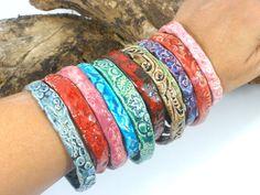 Ceramic jewelry - Unique and stylish purple ceramic bracelet romance style fashion elitett