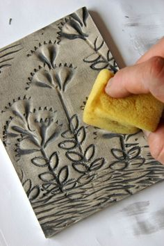 Tiles imprinted with pasta