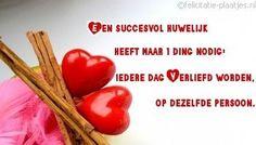 Een succesvol huwelijk heeft 1 ding nodig, iedere dag verliefd worden op dezelfde persoon.