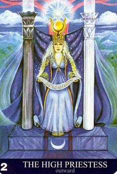 II - La grande prêtresse (extérieur) - New Aura Soma Tarot
