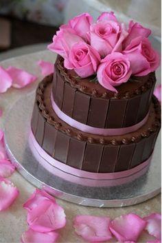 The wedding cake - minus the flowers