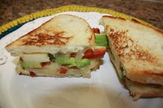 Pepperjack Grilled Cheese with apple