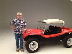 How is this not one of the coolest cars ever made? Bruce Meyer, you are a legend! Right up there with Ford, Shelby, and Chevrolet. Vw Beach, Beach Buggy, Beach Babe, Car Volkswagen, Vw Cars, Vw Camper, Manx Dune Buggy, Baja Bug, Sand Rail
