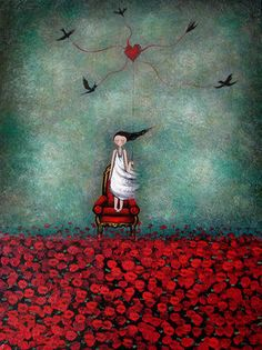 """My heart is unravelling"". Amanda Cass' painting. Inspiring!"