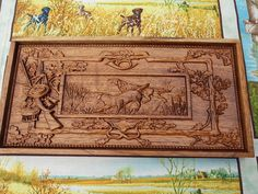 We had a young woman contact our shop after seeing the above vintage dog hunting wood carving wall hanging.  She was in the middle of a remodel of a vintage home where this piece was perfect.  We created a similar piece for a door panel.  Request A Quote for your next remodeling project and see what we can create for you.
