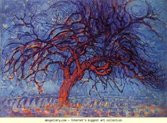 Piet Mondrian. The Red Tree. Olga's Gallery.
