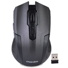 Maxim MX-M2030 5-Button 2.4GHz Wireless Optical Scroll Mouse w/1750 max dpi & Nano USB Receiver (Black)