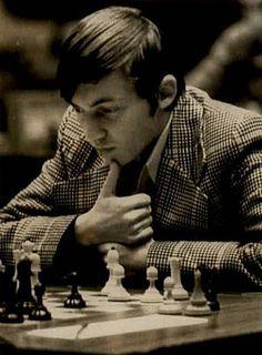 Karpov in his super hero chequered suit
