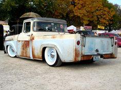 Kustom hot rod trucks | Ford F-100 60, Rat Rod.