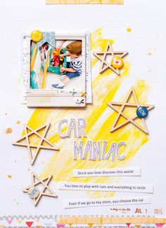 #papercrafting #scrapbook #layout - Car Maniac by geekgalz at @studio_calico