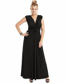 Love Squared Plus Size Sleeveless Knotted Maxi Dress - Plus Size Dresses - Plus Sizes - Macy's