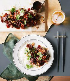 Crisp sweet and sour pork hock recipe, Mr Wong, Sydney :: Gourmet Traveller