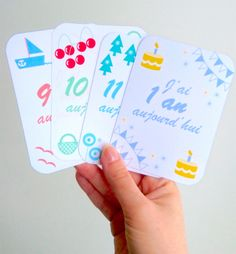 Cartes mois bébé, baby cards, photos souvenir de bébé, cartes mois en pdf, cartes bébé à télécharger gratuitement - by Humeur de moutard