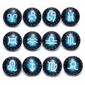12pcs/lot 12 Zodiac Theme Glass Charms 18mm Snap Button Jewelry For 18mm Snaps Bracelet Snap Jewelry KZ0688