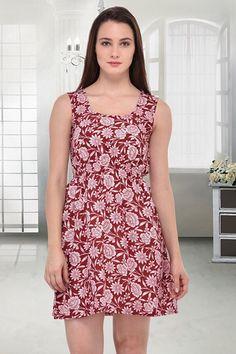 Party Wear Readymade Red Western Wear Dress - 10023