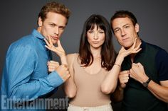 Comic-Con 2017: Exclusive Portraits From EW's Studio  Sam Heughan, Caitriona Balfe, and Tobias Menzies (Outlander)