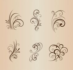 Muster P Collection of Floral Design Elements Vector Illustration Optimal Humidity Level Preserves Y Wood Burning Crafts, Wood Burning Patterns, Wood Burning Art, Wood Crafts, Motif Floral, Floral Design, Schrift Design, Bild Tattoos, Swirl Design
