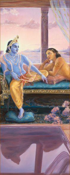 Uddhava & Krishna