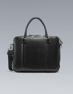 SAFFIANO LEATHER BRIEFCASE - Business - Bags - Man - ZARA