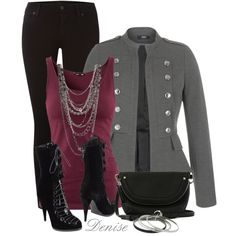 """Military Jacket"" by deniselanders on Polyvore"