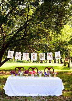outdoor wedding ideas, more ideas for hanging pictures