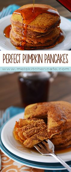 Healthful and hearty, these whole grain pumpkin pancakes are a delicious power-packed breakfast.