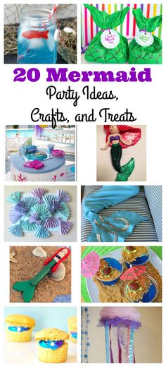Plan a fun mermaid party with these fun mermaid party ideas, crafts and treats. Perfect for any kid's mermaid party and summer parties. Mermaid Party Games, Mermaid Parties, Kids Party Games, Birthday Party Games, Party Activities, Birthday Ideas, 5th Birthday, Birthday Cake, Mermaid Crafts