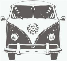 Cool Volkswagen 2017: Muursticker Volkswagen T1 Front  VW Bus