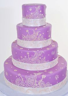 Love the paisely...would be pretty in dark purple and silver